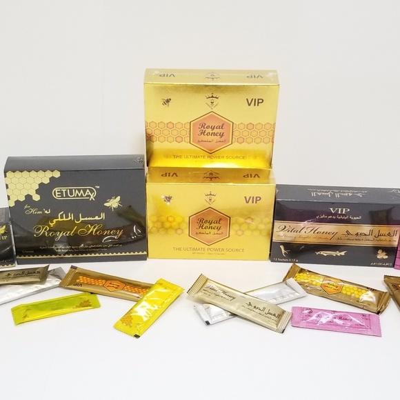 كم سعر العسل الملكي الماليزي في الصيدلية بكافة انواعة vip و etumax، وuni smart ورويال هوني