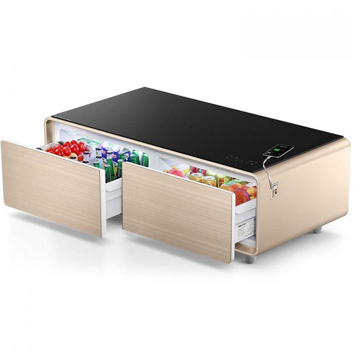 بانكوول الطاولة الذكية مع ثلاجة مدمجة وسماعة